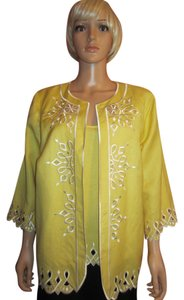 Bob Mackie Top Yellow