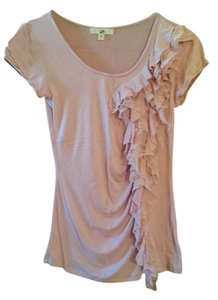 Ya Los Angeles Free Shipping Ruffles Tee Size S Knit Lace Womens S 4 6 Top Pink