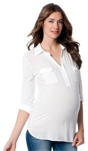 Splendid Splendid Convertible Sleeve Front Pocket Maternity Shirt, Size M