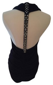 Faith Connexion Edgy Sexy Crystal Embelished Flattering Unique Vegas Atlanta T Strap Backless Dress