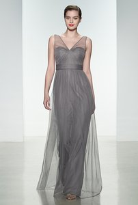 Amsale Graphite G855u Bridesmaid Dress Tulle Dress Charcoal Dress Grey Dress Gray Dress Formal Dress Dress