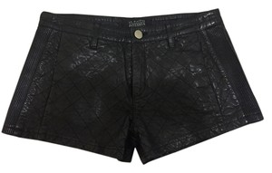 La Marque Intermix Leather Mini/Short Shorts Black