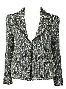 Chanel Chanel - CHANEL 04A Black and White Fantasy Tweed Jacket and Skirt FR 40 US 8