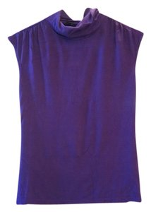 Aerie Free Shipping Turtleneck Size S S Sleeveless 4 6 8 2 Ladies Top Purple