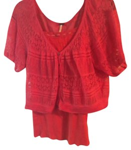 Free People collection 2 peace Top Orange
