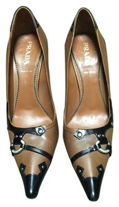 Prada Brown with black trim Pumps