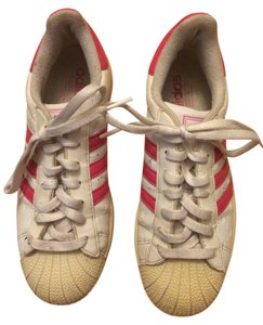 adidas Leather white and pink Athletic