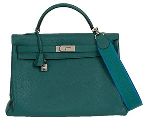 Hermès Hermes Kelly Vintage New Tote in Malachite