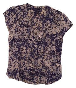 Banana Republic Top Blue and White Floral