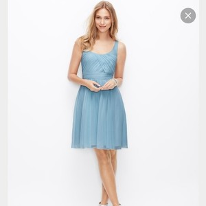Ann Taylor Something Blue Silk Georgette Traditional Bridesmaid/Mob Dress Size 2 (XS)