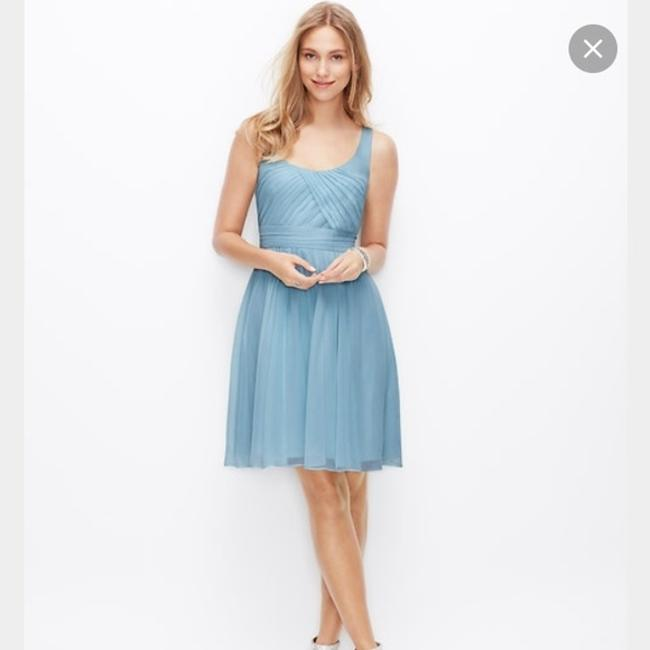 Item - Something Blue Silk Georgette Traditional Bridesmaid/Mob Dress Size 2 (XS)