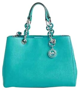 Michael Kors Cynthia Satchel in Tile Blue