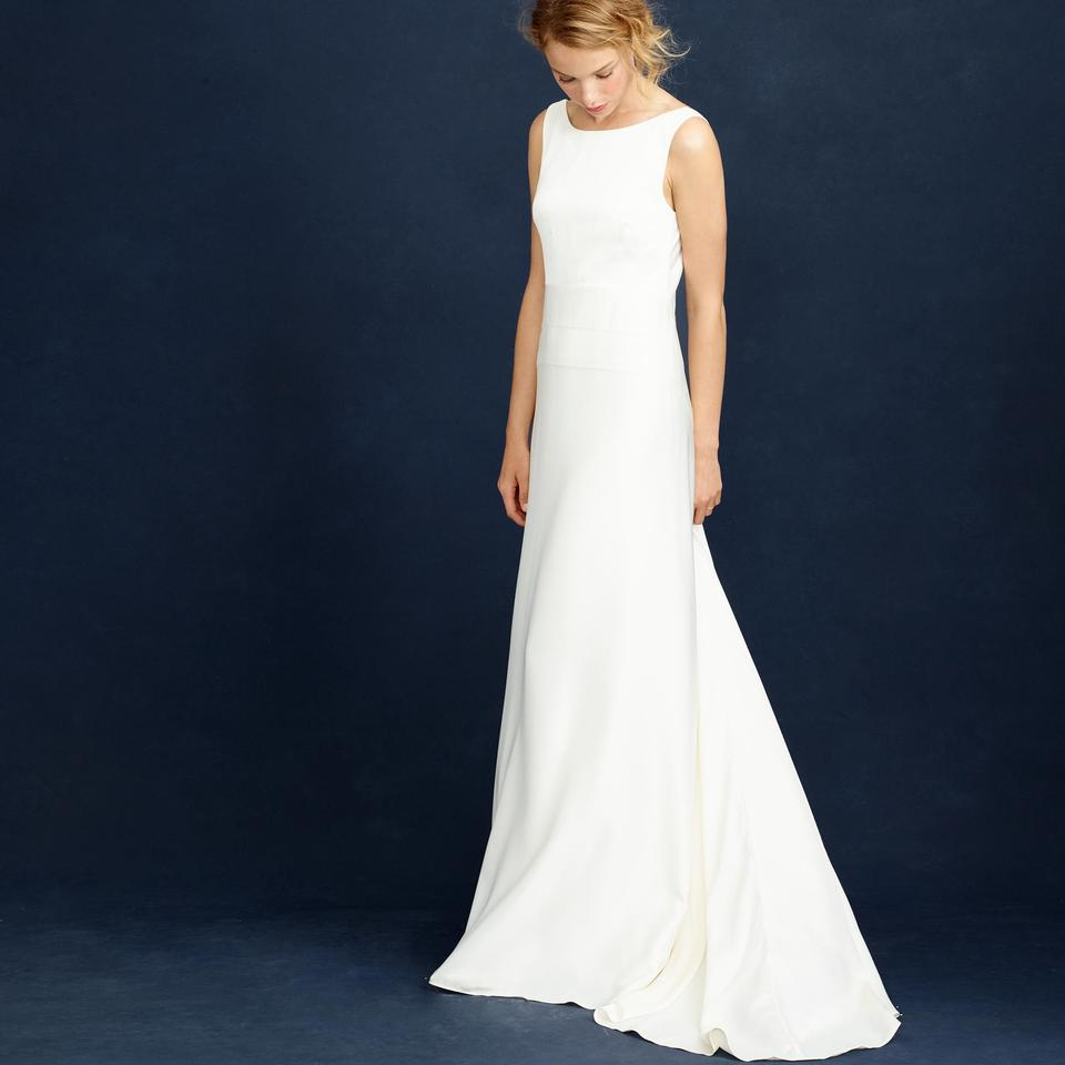 J.Crew Ivory Percy Modern Wedding Dress Size 0 (XS) - Tradesy