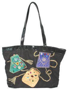 Carlos Falchi Timmy Woods Vintage Tote in BLACK