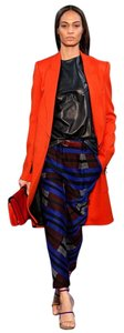 Proenza Schouler Wool Print Proenza Straight Pants Blue/Multi-Color