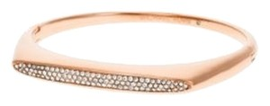 Michael Kors Michael Kors Pave Rose Gold-Tone Hinge Bangle MKJ4485