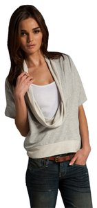 Dolan Knit Cowl Casual Cool Cotton Short Sleeve T Shirt Heather Gray