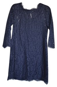 Joie Lace Lace Sleeves 3/4 Sleeve Sheer Sheer Lace Scallop Dress