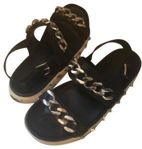 Ash Leather Stud black Sandals