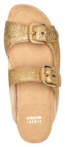 Stuart Weitzman Gold metallic leather Sandals