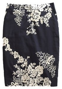 J.Crew Pencil Embroidered Skirt