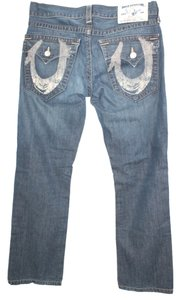 True Religion Cotton Denim Straight Leg Jeans-Medium Wash
