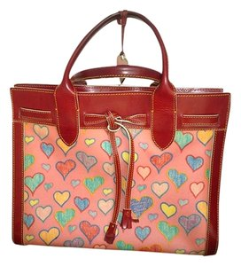 Dooney & Bourke & Hearts Pink And Red Hearts Valentine Tote in Bubble gum