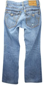 True Religion Cotton Straight Leg Jeans-Light Wash