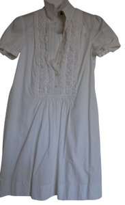 Ralph Lauren short dress white Cotton Ruffle Shirt Work Daytime on Tradesy