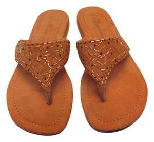 No Boundaries Leather Size 6.50 M Good Condition Cantaloupe Sandals