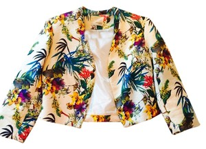 Mustard Seed Floral White/Floral Blazer