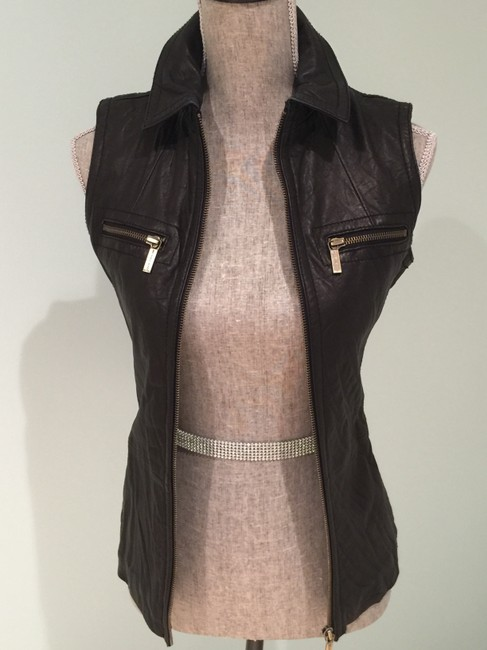 Michael Kors Leather Leather Casual Leather Leather Vest Image 7
