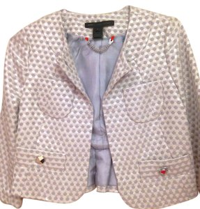 Marc by Marc Jacobs New Metallic Silver Blazer