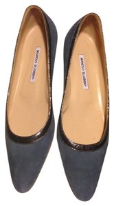 Manolo Blahnik Dusty Blue Flats