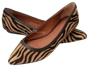 Corso Como Calf Hair Zebra Zebra Print Tan Ballet Slip-ons Pointed Toe New Without Tags Brown Flats