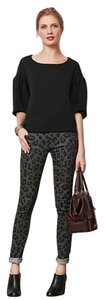 Mother Animal Print Skinny Jeans