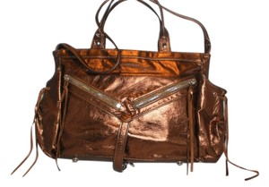 Botkier Vintage Leather Satchel in Bronze