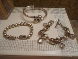Code Vintage lot vintage bracelets & dangles market 925 jewerly 3pc