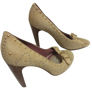 C Label Studded Stilletto CREAM Pumps