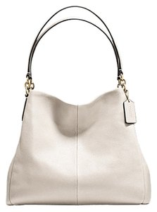 Coach F35723 Leather Phoebe Tote Shoulder Bag