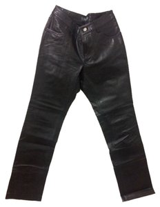 Gap Leather Leather Vintage Leather Motorcycle Boot Cut Pants Black