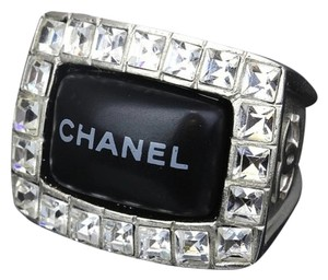 Chanel Chanel Logo Swarovski Crystal Bling Cocktail Ring