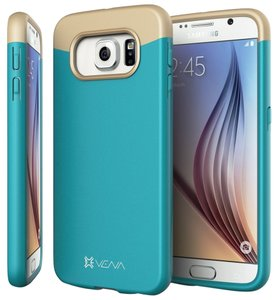 Vena Cava Samsung Galaxy S6 Case - VENA [iSlide] Ultra Slim Fit Hard Rubber-Coated Case