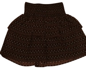 Old Navy Mini Skirt Black Pattern