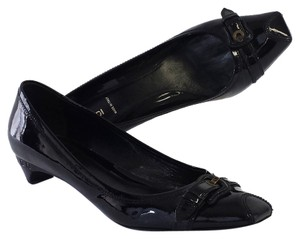 Fendi Black Patent Leather Kitten Heels Pumps