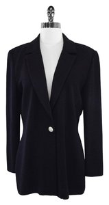 St. John Black Knit Cotton Blazer