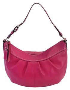 Coach Fuchsia Leather Shoulder Bag