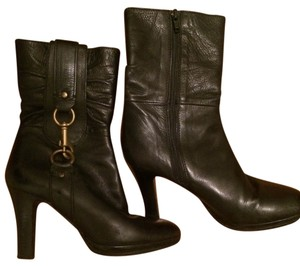 Coach Pointed Toe Knee Length Black Boots