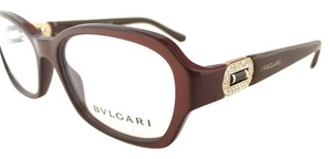 BVLGARI Brown,Pearl,Square,Eyeglasses