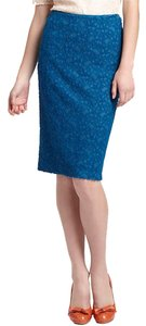 Anthropologie Pencil Lace Skirt Blue